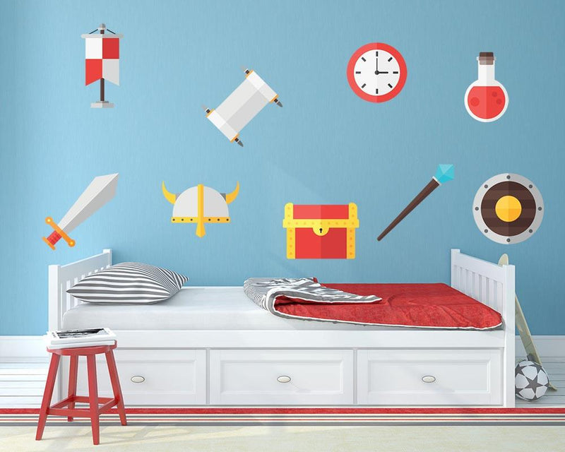 Game Icon Set 1 Wall Sticker - Canvas Art Rocks