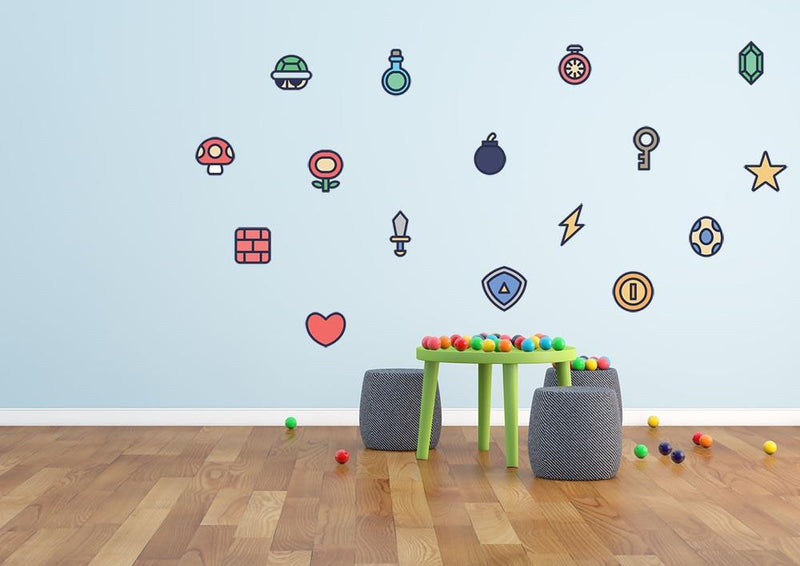 Game Icon Set 2 Wall Sticker - Canvas Art Rocks