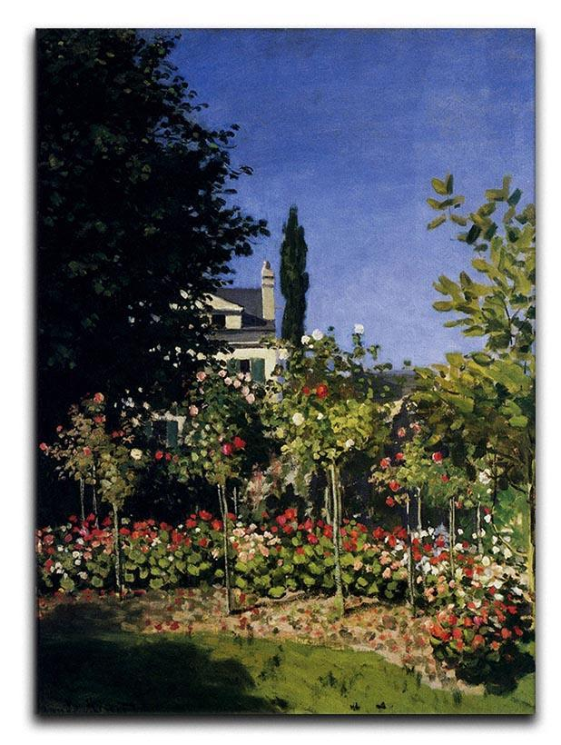 Garden In Flower At Sainte Adresse by Monet Canvas Print or Poster