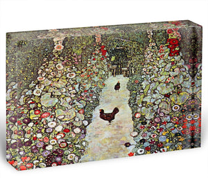Garden Path with Chickens by Klimt Acrylic Block - Canvas Art Rocks - 1