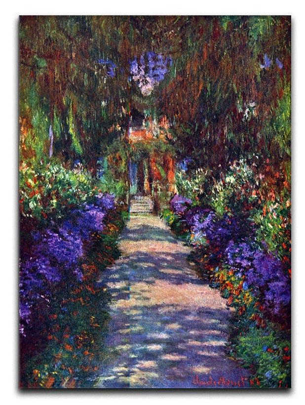 Garden at Giverny by Monet Canvas Print or Poster
