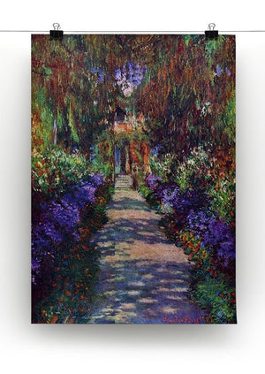 Garden at Giverny by Monet Canvas Print & Poster - Canvas Art Rocks - 2
