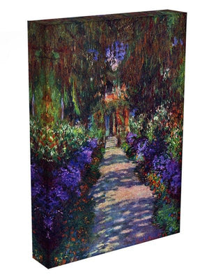 Garden at Giverny by Monet Canvas Print & Poster - Canvas Art Rocks - 3