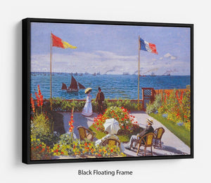 Garden at Sainte Adresse 2 by Monet Floating Frame Canvas