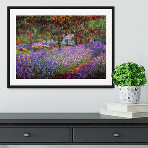 Garden in Giverny by Monet Framed Print - Canvas Art Rocks - 1