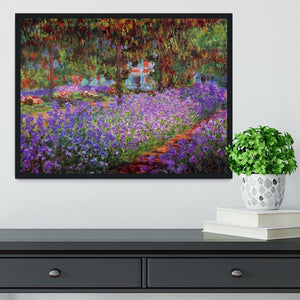 Garden in Giverny by Monet Framed Print - Canvas Art Rocks - 2