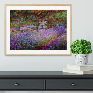 Garden in Giverny by Monet Framed Print - Canvas Art Rocks - 3