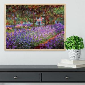 Garden in Giverny by Monet Framed Print - Canvas Art Rocks - 4