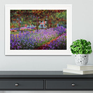 Garden in Giverny by Monet Framed Print - Canvas Art Rocks - 5