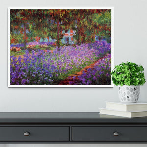 Garden in Giverny by Monet Framed Print - Canvas Art Rocks -6