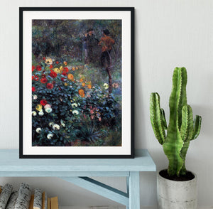 Garden in the street Cortot Montmartre by Renoir Framed Print - Canvas Art Rocks - 1