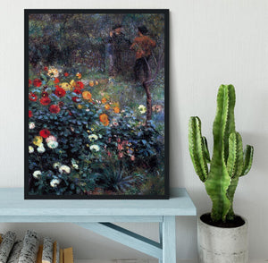 Garden in the street Cortot Montmartre by Renoir Framed Print - Canvas Art Rocks - 2