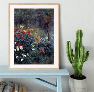 Garden in the street Cortot Montmartre by Renoir Framed Print - Canvas Art Rocks - 3