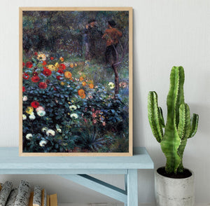 Garden in the street Cortot Montmartre by Renoir Framed Print - Canvas Art Rocks - 4