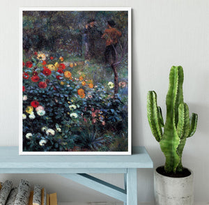 Garden in the street Cortot Montmartre by Renoir Framed Print - Canvas Art Rocks -6