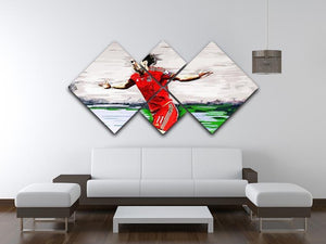 Gareth Bale 4 Square Multi Panel Canvas - Canvas Art Rocks - 3