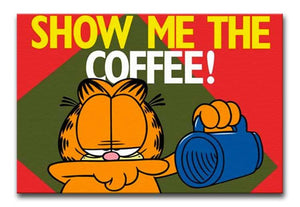 Garfield Show Me The Coffee Print - Canvas Art Rocks
