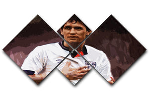 Gary Lineker England 4 Square Multi Panel Canvas  - Canvas Art Rocks - 1