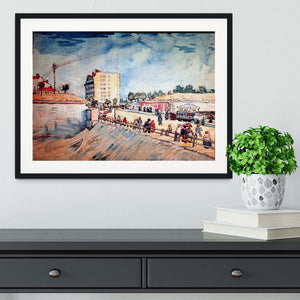 Gate in the Paris Ramparts by Van Gogh Framed Print - Canvas Art Rocks - 1