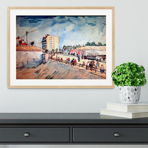Gate in the Paris Ramparts by Van Gogh Framed Print - Canvas Art Rocks - 3
