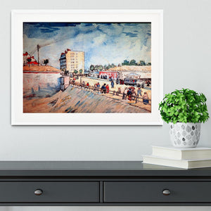 Gate in the Paris Ramparts by Van Gogh Framed Print - Canvas Art Rocks - 5