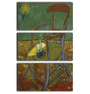 Gauguins chair by Van Gogh 3 Split Panel Canvas Print - Canvas Art Rocks - 1