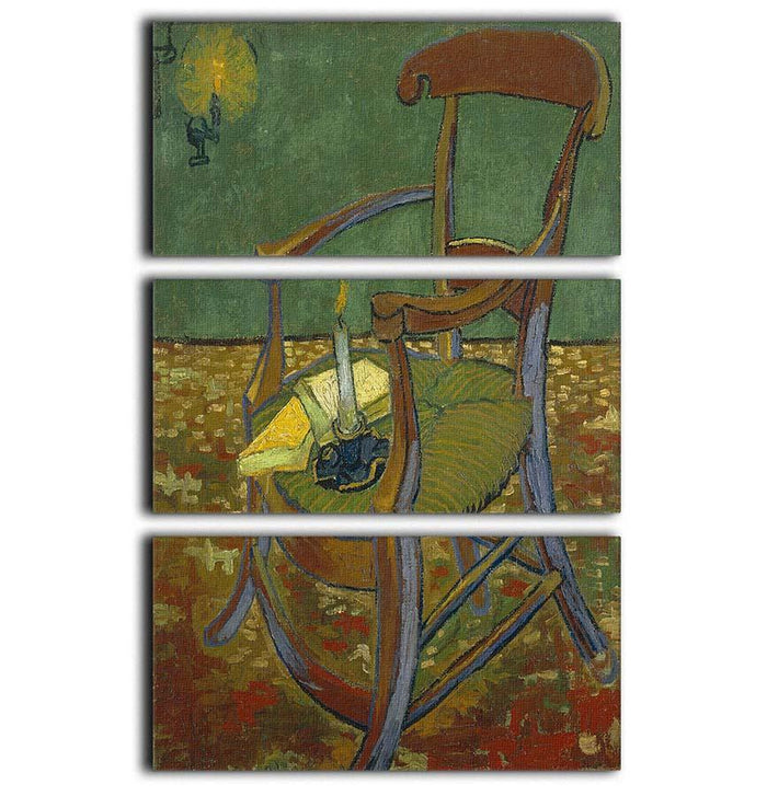 Gauguins chair by Van Gogh 3 Split Panel Canvas Print