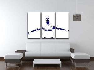 Gazza 3 Split Panel Canvas Print - Canvas Art Rocks - 3