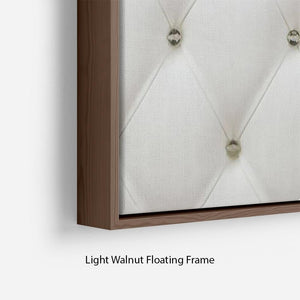 Genuine leather upholstery Floating Frame Canvas
