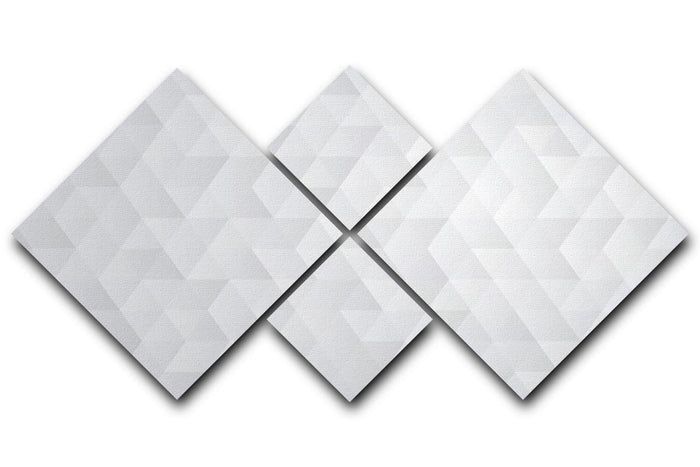 Geometric style abstract grey 4 Square Multi Panel Canvas