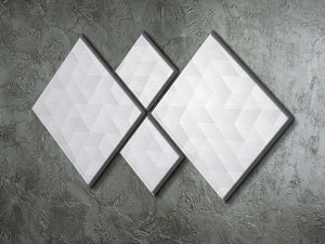 Geometric style abstract grey 4 Square Multi Panel Canvas  - Canvas Art Rocks - 2