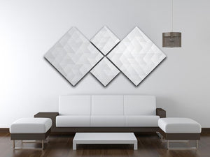 Geometric style abstract grey 4 Square Multi Panel Canvas  - Canvas Art Rocks - 3