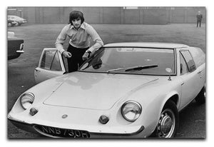 George Best with his Lotus Europa Canvas Print or Poster  - Canvas Art Rocks - 1