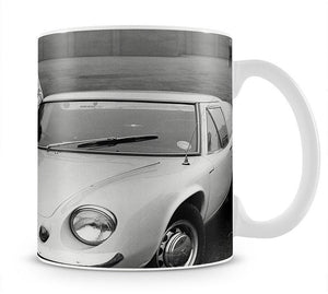 George Best with his Lotus Europa Mug - Canvas Art Rocks - 1