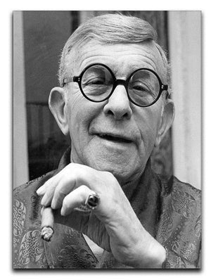 George Burns Canvas Print or Poster  - Canvas Art Rocks - 1