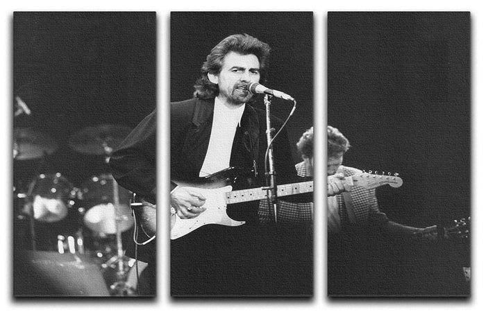 George Harrison at the Princes Trust concert in 1988 3 Split Panel Canvas Print