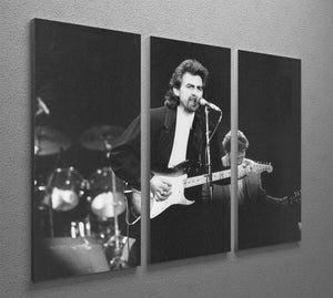 George Harrison at the Princes Trust concert in 1988 3 Split Panel Canvas Print - Canvas Art Rocks - 2