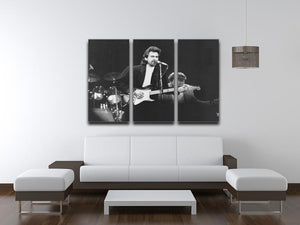 George Harrison at the Princes Trust concert in 1988 3 Split Panel Canvas Print - Canvas Art Rocks - 3