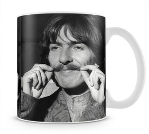 George Harrison plays with his moustache Mug - Canvas Art Rocks - 1