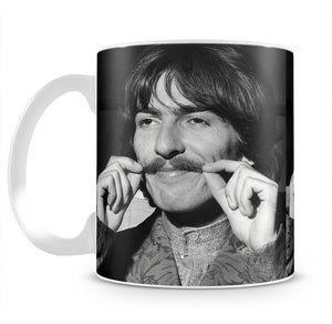 George Harrison plays with his moustache Mug - Canvas Art Rocks - 2
