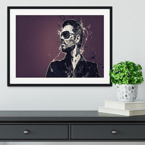 George Michael Paint Splatter Framed Print - Canvas Art Rocks - 1