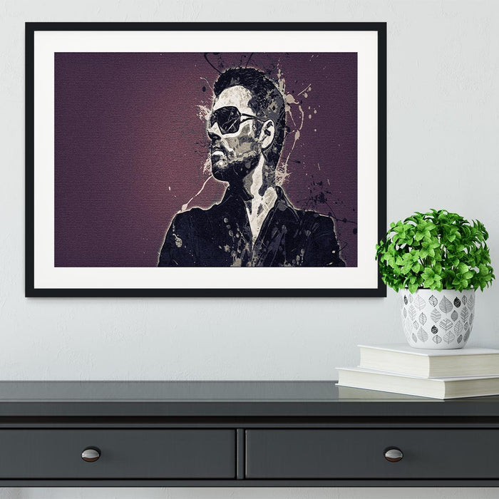 George Michael Paint Splatter Framed Print