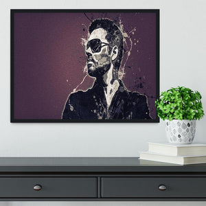 George Michael Paint Splatter Framed Print - Canvas Art Rocks - 2