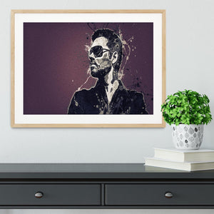 George Michael Paint Splatter Framed Print - Canvas Art Rocks - 3