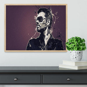 George Michael Paint Splatter Framed Print - Canvas Art Rocks - 4