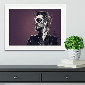 George Michael Paint Splatter Framed Print - Canvas Art Rocks - 5