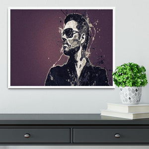 George Michael Paint Splatter Framed Print - Canvas Art Rocks -6