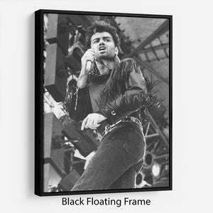 George Michael in Whams last concert Floating Frame Canvas - Canvas Art Rocks - 1
