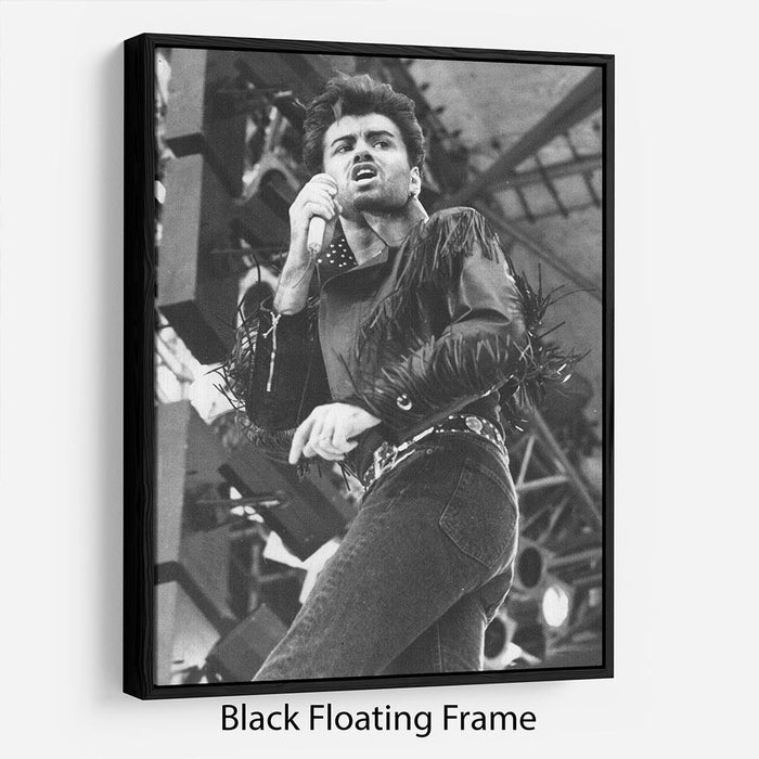 George Michael in Whams last concert Floating Frame Canvas