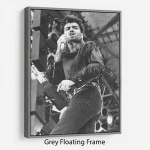 George Michael in Whams last concert Floating Frame Canvas - Canvas Art Rocks - 3